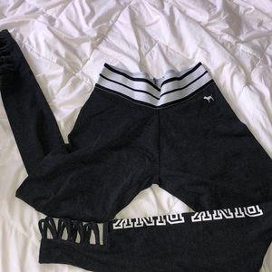 PINK gray leggings